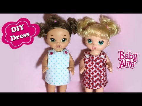How to make Baby Alive Reversible Doll Dress Free Pattern DIY - YouTube