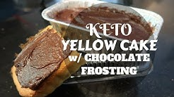 Keto Yellow Cake w/ Choco Frosting | Tasty Tuesday