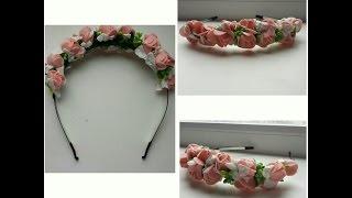 Ободок с цветами с сайта алиэкспресс