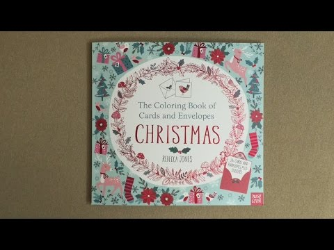The Coloring Book Of Cards And Envelopes Christmas Flip Through