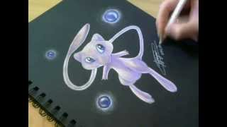 Drawing Mew from Pokemon!