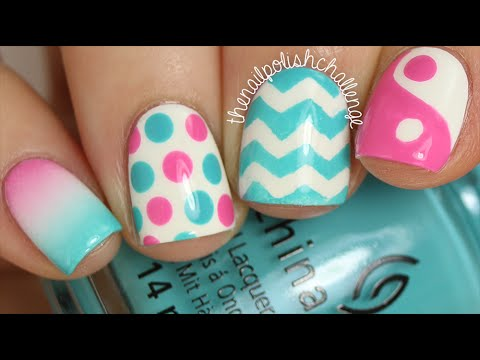 In Depth Skittle Tutorial (4 Easy Nail Art Designs!) || KELLI MARISSA