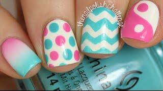In Depth Skittle Tutorial (4 Easy Nail Art Designs!)    KELLI MARISSA