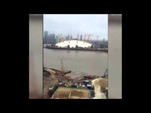 'River Thames monster' filmed swimming near the O2 Arena