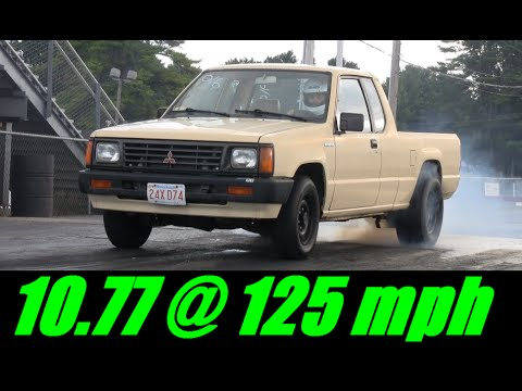 Hot Chick in the World's Fasest 4g63 Mighty Max - 10 77 @ 125 mph