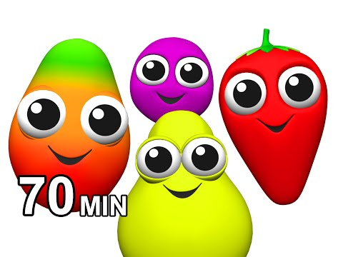 Fruit Songs & Vegetables Rhymes | Learn Names Of Fruits | Children's English ESL | Busy Beavers