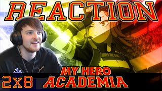 "My Hero Academia: Season 2 - Episode 8 REACTION ""CAUGHT WITH HIS PANTS DOWN!"""