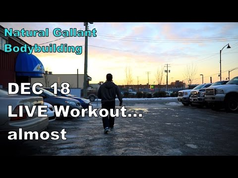 DEC 18, LIVE WORKOUT, Using Machines and Free Weights