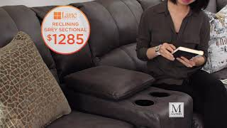 Check Out New Reclining Sectionals www.mathisbrothers.com