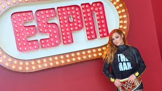 Go behind the scenes with Becky Lynch at ESPN
