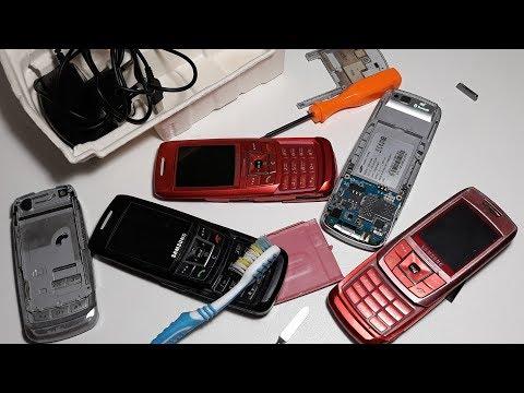 Посылка с ретро телефоном от подписчика Владимира их Хуста. Подарок от подписчика Samsung E250I