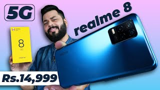 realme 8 5G Unboxing And First Impressions | Cheapest 5G Phone ⚡ Dimensity 700, 90Hz Screen & More
