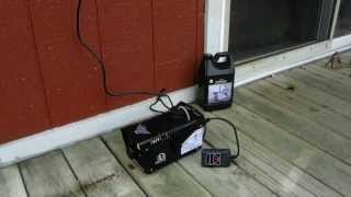 I am testing out my new 400 watt fog machine with remote controi