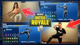 FORTNITE BAILES IN REAL LIFE - CHALLENGE WITH MY NOVIA!!