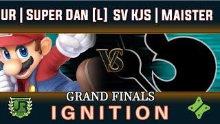 Ignition #167 GRAND FINALS - UR | Super Dan [L] (Mario, Ike) vs SV KJS | Maister [W] (Game n Watch)