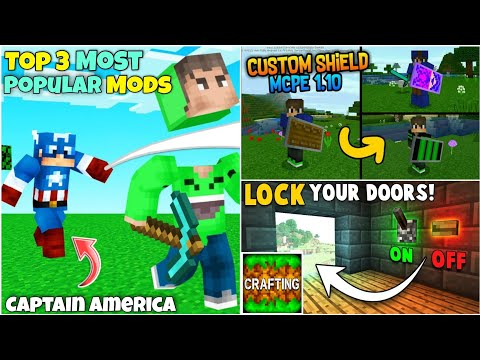 Top 3 Most Popular Mods For Crafting And Building | Without Zarchiver | Minecraft Mods In CAB 😍