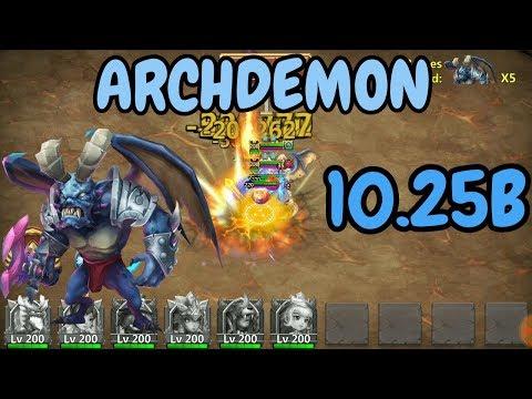 Archdemon L 10.25B L #3 L Summons Monsters Huge Damage L Castle Clash