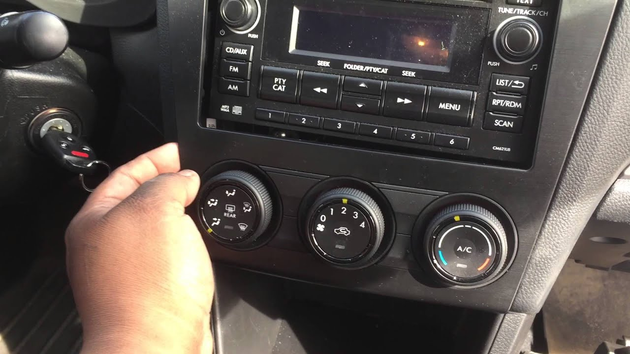2014 subaru impreza radio dash removel youtube
