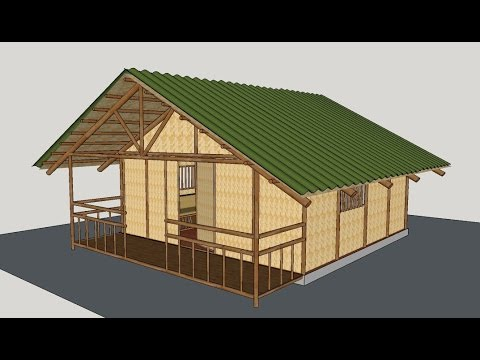 Making A Bamboo House Youtube