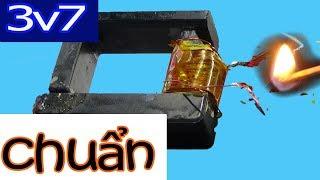 Cách làm bật lửa điện hồ quang plasma tesla, 3v7 kích điện inverter