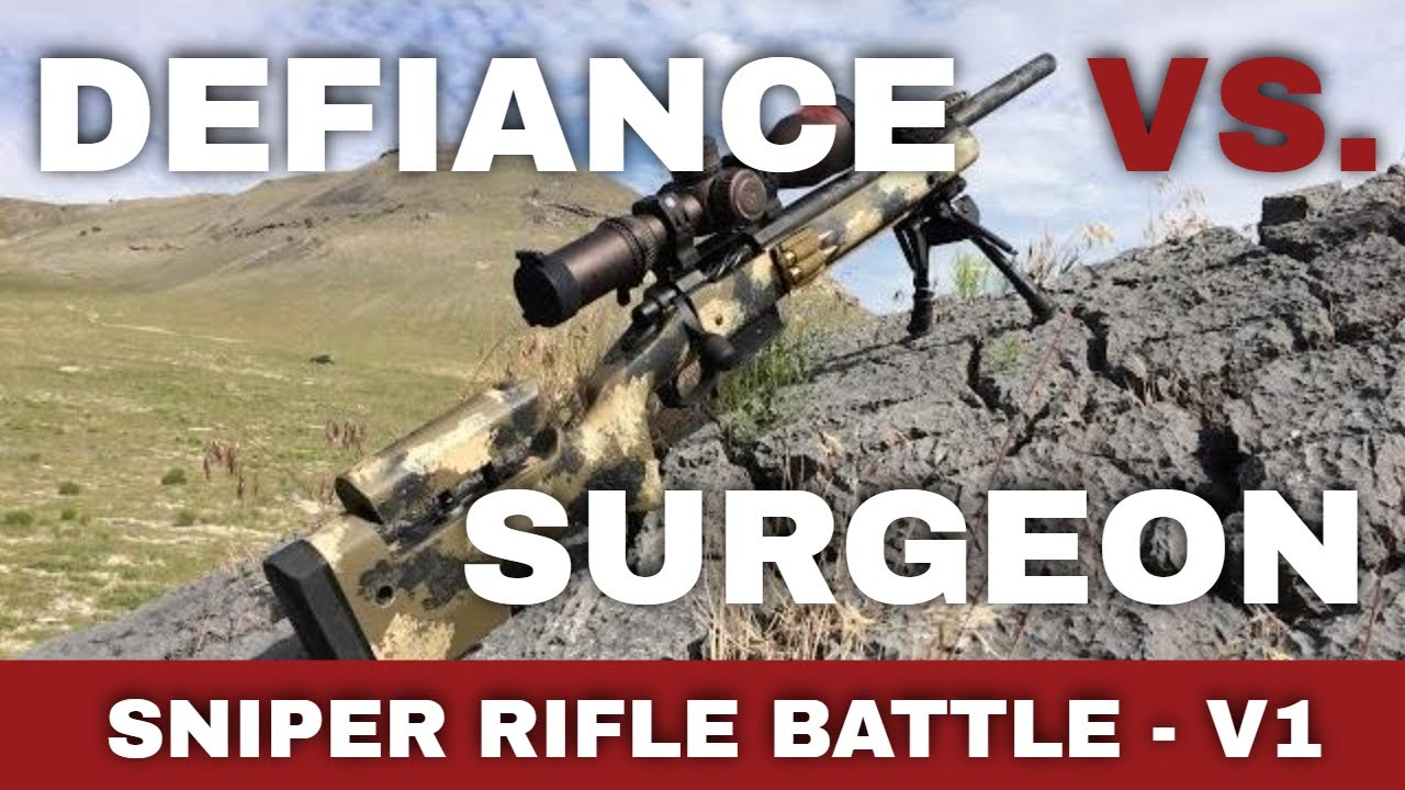 Long Range Sniper Rifle Battle V1: Defiance vs Surgeon