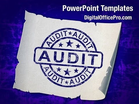 audit stamp powerpoint template backgrounds - digitalofficepro, Powerpoint templates