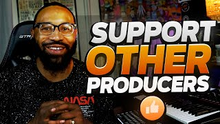 support other producers (making a boom bap beat)