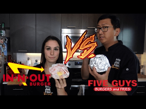 Five Guys by JP vs In-N-Out by Julia of HellthyJunkfood