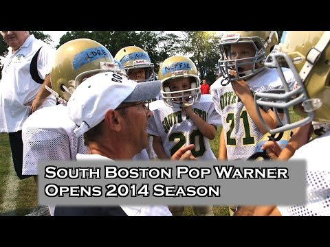 South Boston Pop Warner Football Rally Mayor Martin Walsh roots for kids