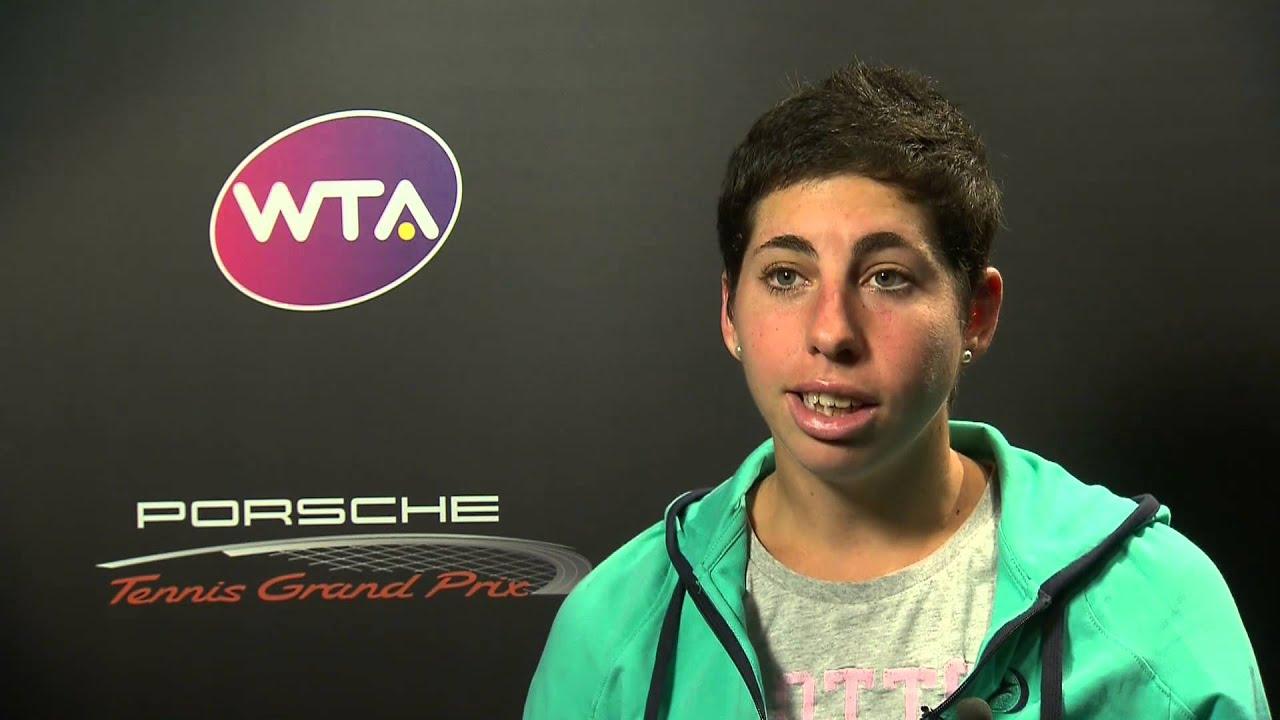 Interview Carla Suarez Navarro Esp Porsche Tennis Grand Prix Youtube