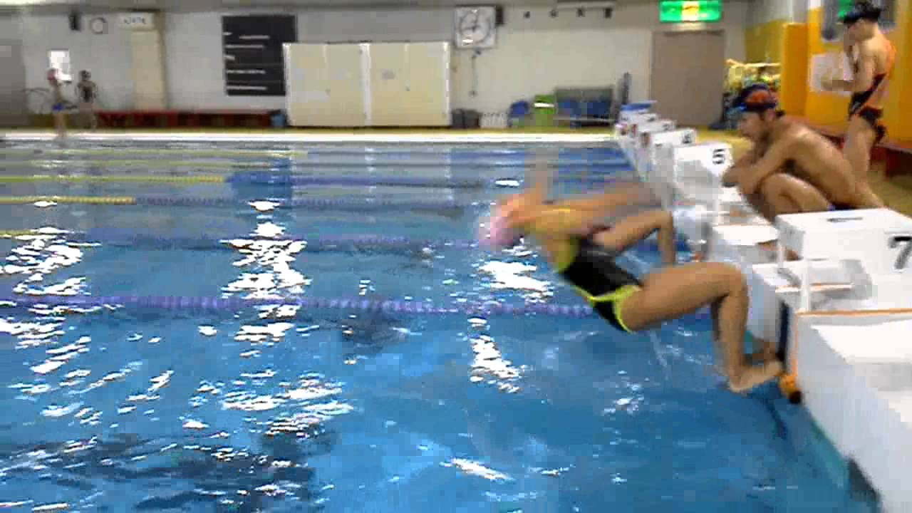 shinji hihara 背泳ぎのスタート - YouTube