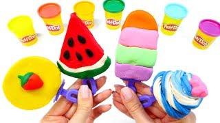 Basteln für kinder und Spielspaß mit Play Doh.  Knete Ideen . Wir machen Eis