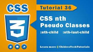cSS video tutorial - 36 - nth pseudo classes  :nth-child(n), :nth-last-child(n)