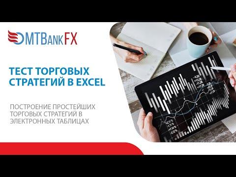Исторические котировки и тест торговых стратегий в MS Excel