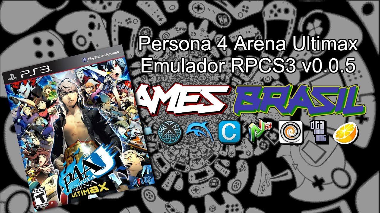 Persona 4 Arena Ultimax - RPCS3 v0 0 5