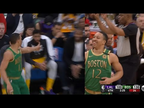 Grant Williams joking with DeMarcus Cousins after a 3-pointer, gets T'd up by Tony Brothers
