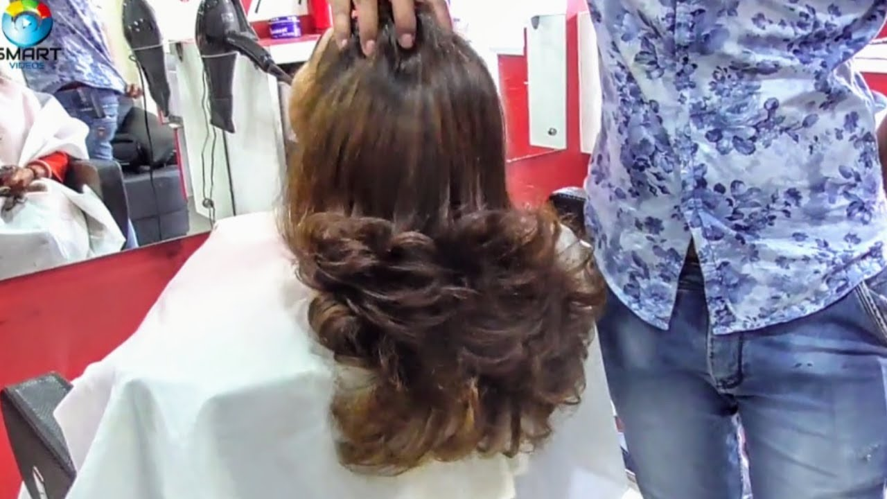 Step Cut Haircut For Curly Hair 2018advance Youtube