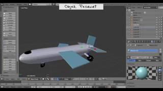 tutorial objek pesawat at blender