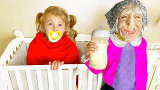 Five Kids Strange Nanny Song Nursery Rhymes & Children's Song