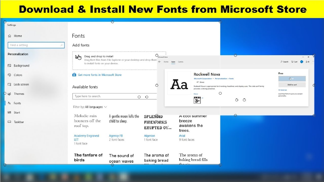 Download & Install New Fonts from Microsoft Store for Windows 10