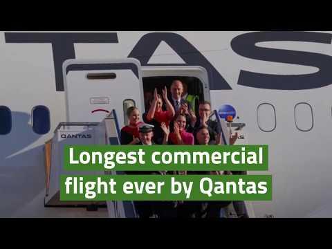 Longest commercial flight ever by Qantas
