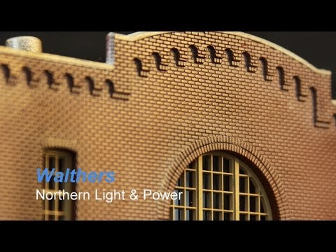 HO Scale Building Construction Northern light & Power Build, painting and weathering