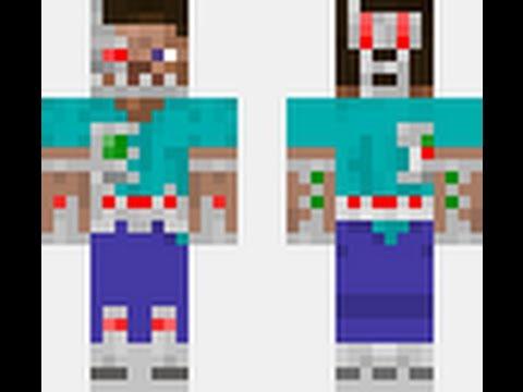 Steve Minecraft Skin Download Cyborg Steve Minecraft...