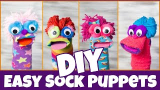 How to Make Sock Puppets | Fast and Easy DIY | Fun Sock Creations