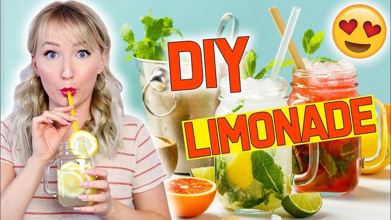 DIY LIMONADE - 4 EASY Sommer Getränke - Erfrischend & Lecker ...