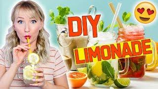 DIY LIMONADE - 4 EASY Sommer Getränke - Erfrischend & Lecker - TheBeauty2go
