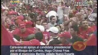 Video de Carlchucho, elaborado con una pequeña muestra de las imágenes transmitidas por Venezolana de Televisión, desde agosto hasta noviembre, donde se muestra el recorrido efectuado por el Comandant