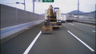 九州自動車道(危険なトレーラー・ドライブレコーダー)