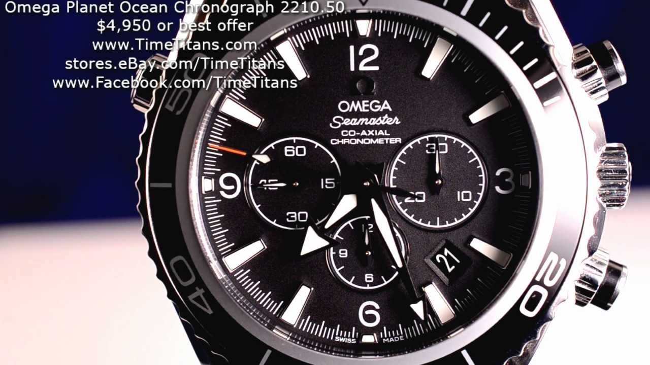 Omega Seamaster Professional Planet Ocean 2210.50 Chronograph Co-Axial 3313  Chronometer 45MM - YouTube