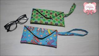 Aula para iniciante – Como fazer uma bolsa porta Óculos